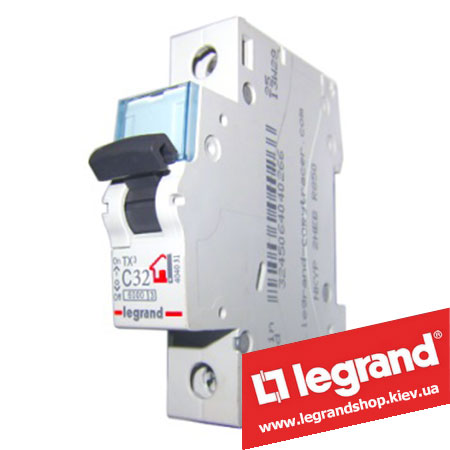 Автоматический выключатель TX3 1п 32A (Тип C) 404031