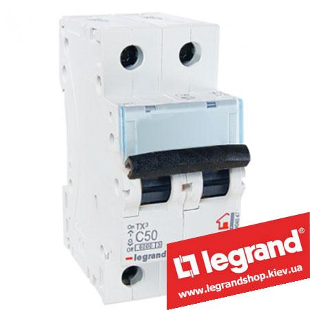 Автоматический выключатель TX3 2п 50A (Тип C) 404047
