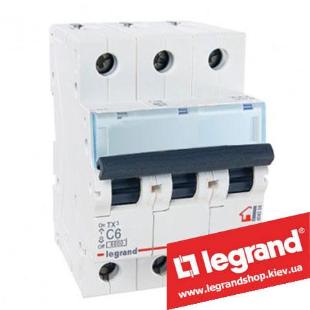 Автоматический выключатель TX3 3п 6A (Тип C) 404053