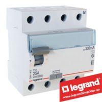 Дифреле (УЗО) Legrand TX3 4-п 25A 300mA (Тип AC) 403042