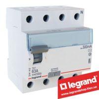 Дифреле (УЗО) Legrand TX3 4-п 63A 30mA (Тип AC) 403010