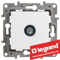 Розетка TV оконечная Legrand Etika 672265 (белая)