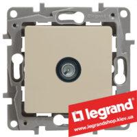 Розетка TV простая Legrand Etika 672351 (слоновая кость)