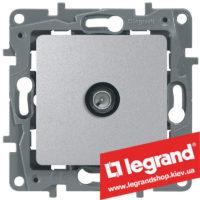 Розетка TV простая Legrand Etika 672451 (алюминий)