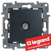 Розетка TV простая Legrand Etika 672651 (антрацит)