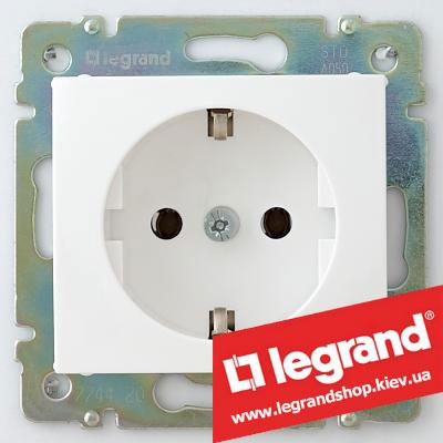 Розетка 774420 с заземлением, Legrand Valena 16А (белая) Легранд