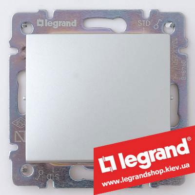 770101 Выключатель простой Legrand Valena алюминий, Легранд
