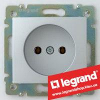 Розетка без заземления 16А Legrand Valena 770116 (алюминий)