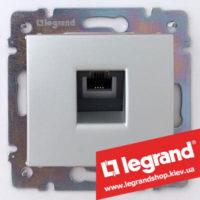 Розетка телефонная Legrand Valena 770138 (алюминий)