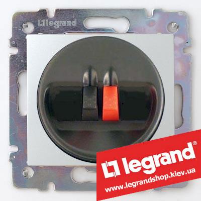 Акустическая розетка Legrand Valena 770223 (алюминий)