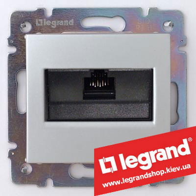 Розетка компьютерная Legrand Valena 770230 (алюминий)