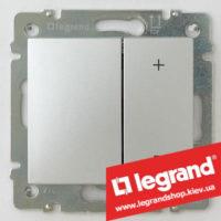 Светорегулятор кнопочный Legrand Valena 40-400Вт 770262 (алюминий)