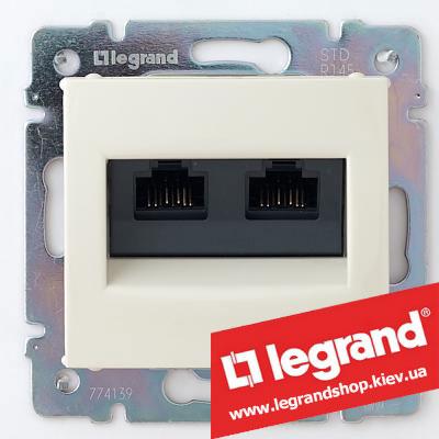 Розетка двойная компьютерная Legrand Valena 774131 (слоновая кость)