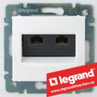 Розетка двойная компьютерная Legrand Valena 774231 (белая)