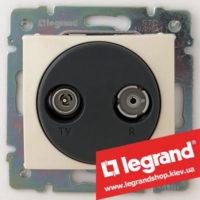 Розетка TV-FM простая Legrand Valena 770132 (алюминий)