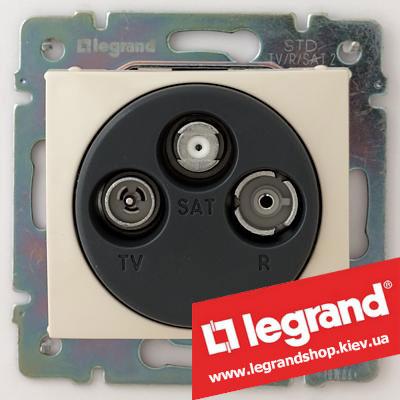 Розетка TV-FM-SAT простая Legrand Valena 774335 (слоновая кость)