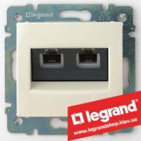 Розетка двойная телефонная Legrand Valena 774339 (слоновая кость)