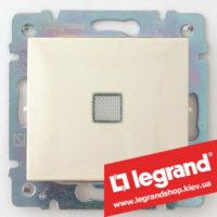 Переключатель промежуточный с подсветкой Legrand Valena 10А (крест) 774348 (слоновая кость)