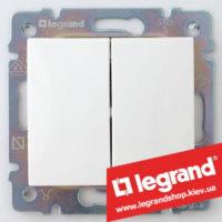 Выключатель двухклавишный Legrand Valena 10А 774405 (белый)