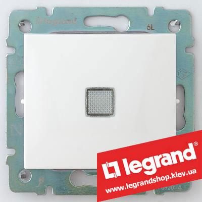 Выключатель одноклавишный с подсветкой Legrand Valena 10А 774310 (слоновая кость)