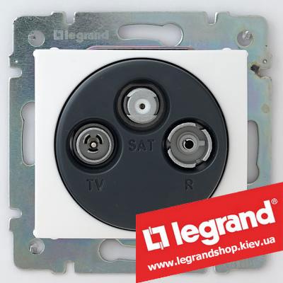 Розетка TV-FM-SAT оконечная Legrand Valena 774436 (белая)