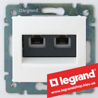 Розетка двойная телефонная Legrand Valena 774439 (белая)