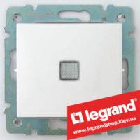 Переключатель промежуточный с подсветкой Legrand Valena 10А (крест) 774448 (белый)