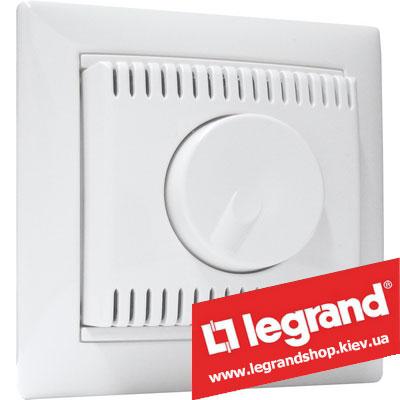 Светорегулятор поворотно-нажимной Legrand Valena 100-1000Вт 770060 (белый)
