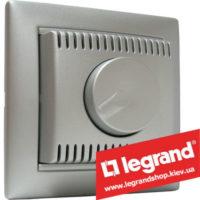 Светорегулятор Legrand Valena поворотно-нажимной 100-1000Вт 770260 (алюминий)
