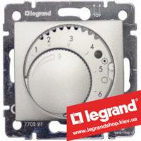 Терморегулятор для систем «Теплый пол» Legrand Valena 770291 (алюминий)