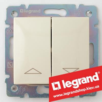 Кнопка для управления жалюзи двойная Legrand Valena 10А 774314 (слоновая кость)