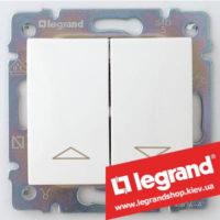 Выключатель для управления жалюзи двойной Legrand Valena 10А 774404 (белый)