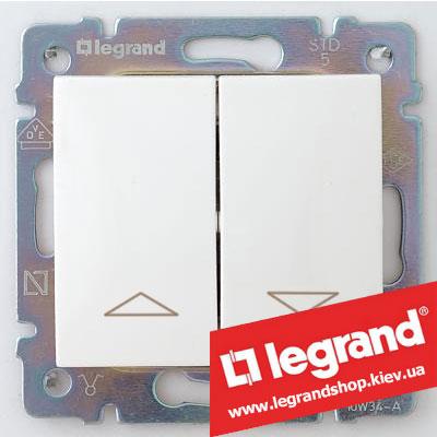 Кнопка для управления жалюзи двойная Legrand Valena 10А 774414 (белая)