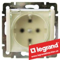 Розетка с заземлением Legrand Valena с прозрачной крышкой, 16А IP44 774120 (слоновая кость)