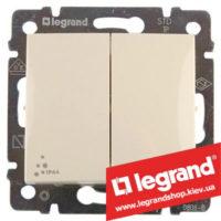 Переключатель на 2 направления двухклавишный Legrand Valena 10А IP44 774198 (слоновая кость)