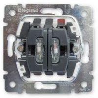 Механизм двухклавишный переключатель на 2 направления с подсветкой 10А 775608