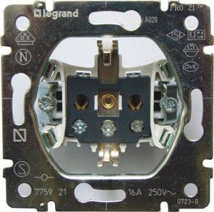 Механизм розетки с заземлением, 16А 775921