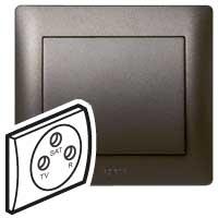 Панель розетки TV+R+SAT 771273 (темная бронза)