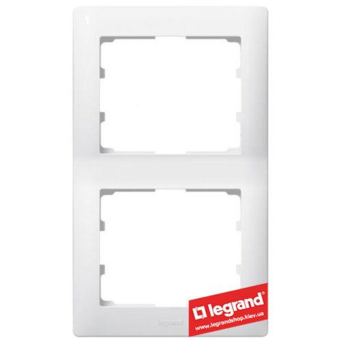 Рамка 2-я вертикальная Legrand Galea Life 771006 (белая)