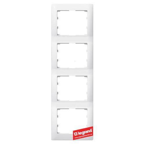 Рамка 4-я вертикальная Legrand Galea Life 771008 (белая)