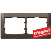 Рамка 2-я Legrand Galea Life 771202 (темная бронза)