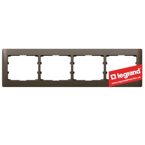 Рамка 4-я Legrand Galea Life 771204 (темная бронза)