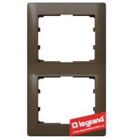 Рамка 2-я вертикальная Legrand Galea Life 771206 (темная бронза)