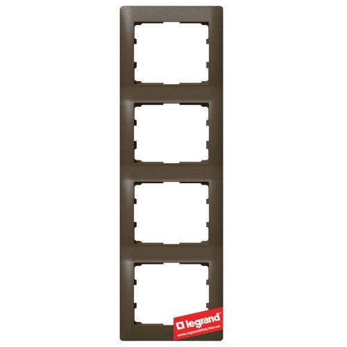 Рамка 4-я вертикальная Legrand Galea Life 771208 (темная бронза)