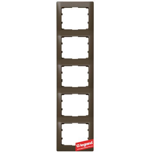 Рамка 5-я вертикальная Legrand Galea Life 771209 (темная бронза)