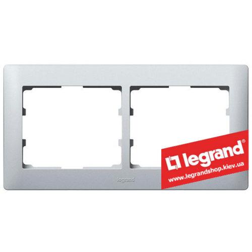 Рамка 2-я Legrand Galea Life 771302 (алюминий)
