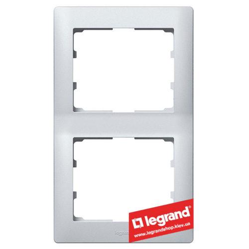 Рамка 2-я вертикальная Legrand Galea Life 771306 (алюминий)