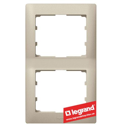 Рамка 2-я вертикальная Legrand Galea Life 771406 (титан)