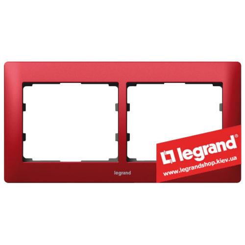Рамка 2-я Legrand Galea Life 771902 (магический красный)