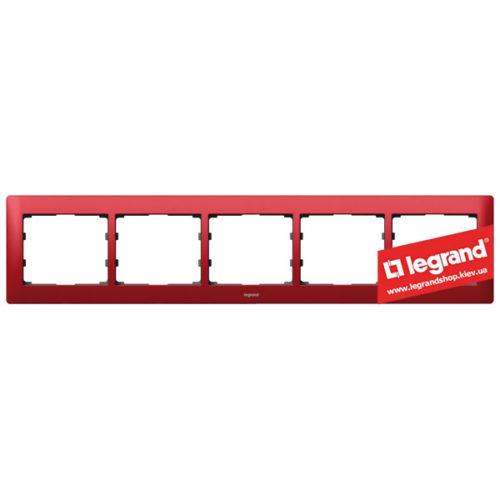 Рамка 5-я Legrand Galea Life 771905 (магический красный)